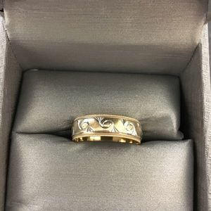 Men's wedding band ring from zales
